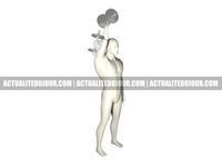 Extension verticale pour la musculation des triceps